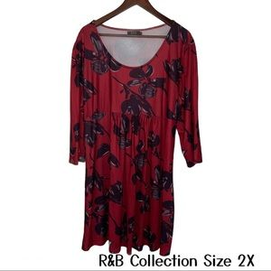 R&B Collection Baby Doll Tunic Size 2X